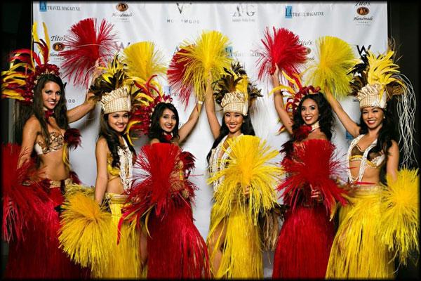 Hula Dancers Polynesian Tahitian Dancers With Fire Los Angeles Ca